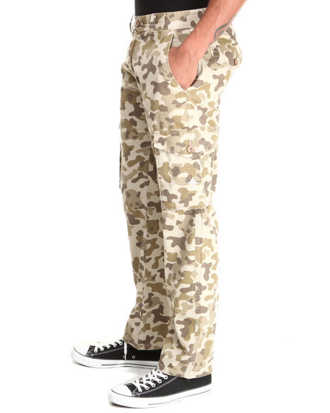 Lrg - Men Khaki Core Collection Cargo Camo True - Straight Pants