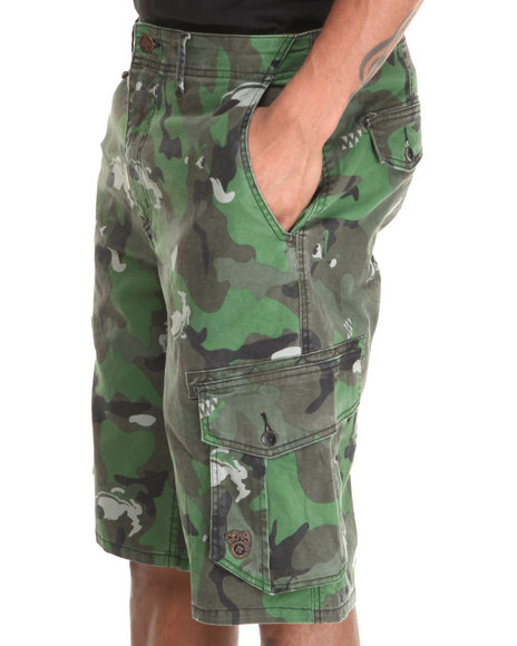 LRG - Men Camo The Unnatural Palette Classic Cargo Shorts