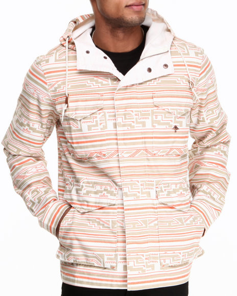 LRG - Men Off White King Tshaka M65 Canvas Jacket
