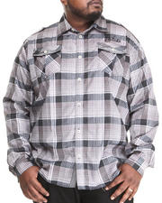 Men - Ramses L/S Plaid Button Down Shirt (B&T)