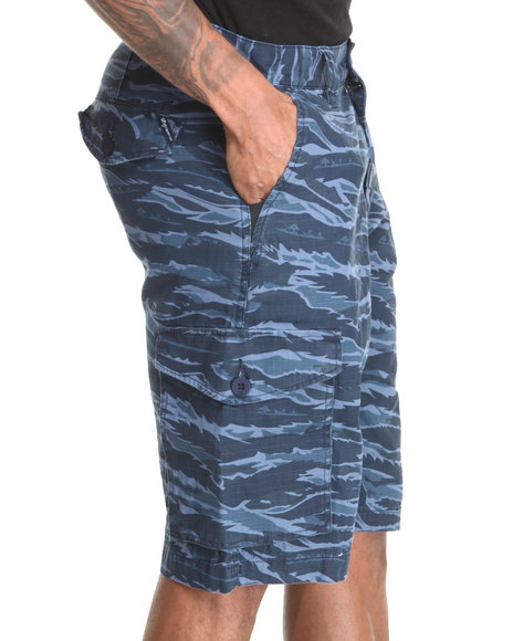LRG - Men Navy Core Collection Classic Cargo Shorts