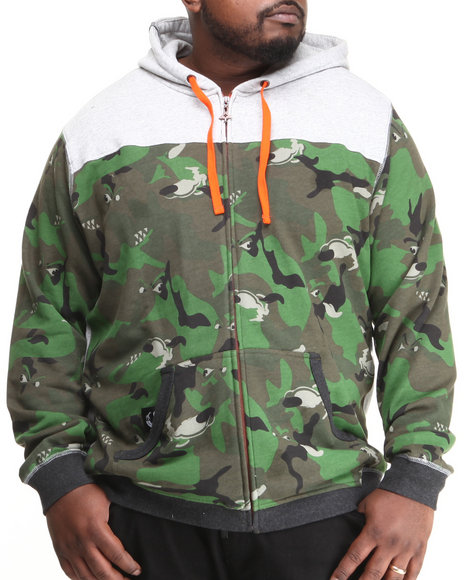 Lrg - Men Grey Wolfland Zip Hoodie (B&T)
