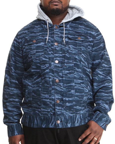 LRG - Men Navy Core Collection Cotton Twill Jacket (B & T)