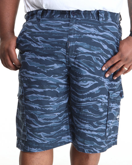 LRG - Men Navy Core Collection Classic Cargo Shorts (B & T)