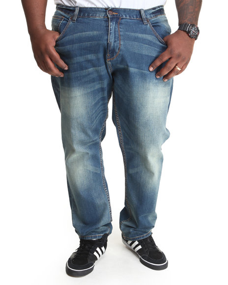 LRG - Men Medium Wash Core Collection True - Tapered Denim Jeans (B & T)
