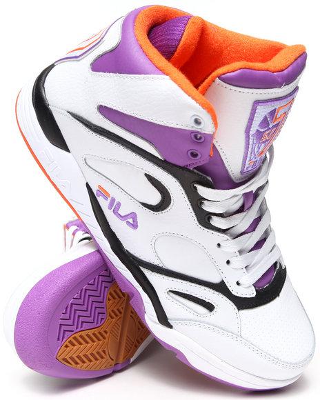 Fila Purple,White Kj7 (Kevin Johnson) Rising Sun Edition Retro Sneakers