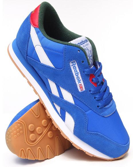 Reebok - Men Blue Classic Nylon R13 Sneakers