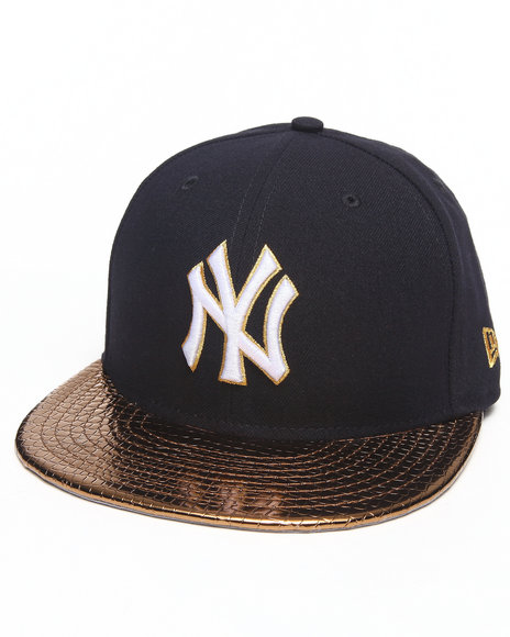 New Era - Men Navy New York Yankees Metallic Slither 5950 Fitted Hat