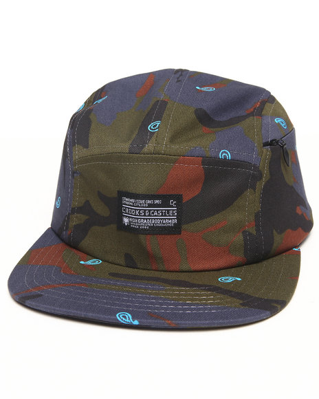 Crooks & Castles Killstreak 5-Panel Cap Camo