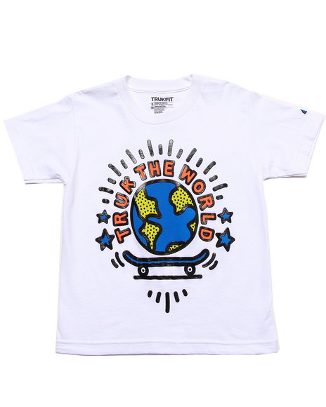 TRUKFIT Boys White Truk Da World Tee (8-20)