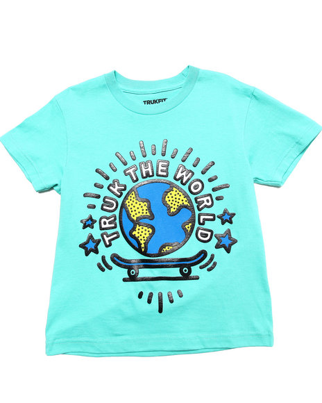 TRUKFIT Boys Teal Truk Da World Tee (8-20)