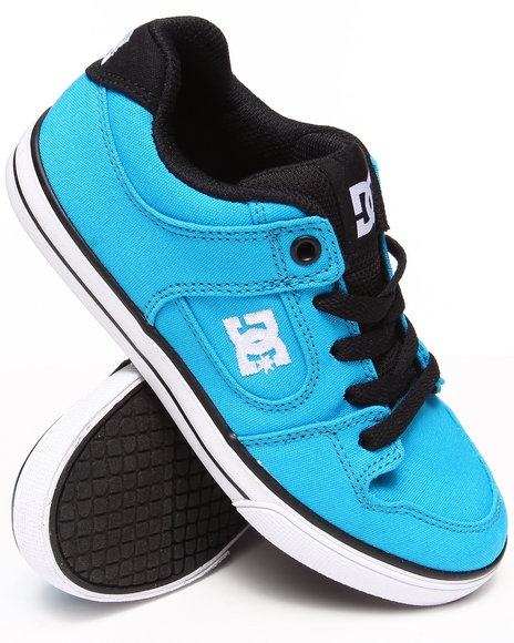 Dc Shoes - Boys Blue Pure Canvas Sneakers (1-7)