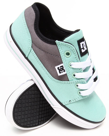 DC Shoes Girls Teal Bristol Canvas Sneakers (1-7)