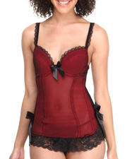 Women - Fishnet Bustier Babydoll