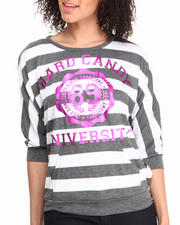 Fashion Lab - Hardcany Stripe 3/4 Sleeve Tee