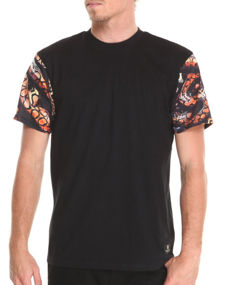 Crooks & Castles - Men Black Python T-Shirt