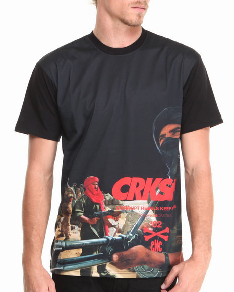 Crooks & Castles - Men Black Corrupt T-Shirt