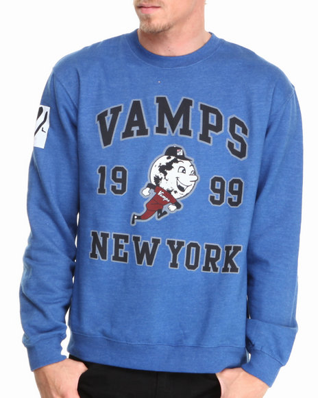 Vampire Life - Men Blue Mr. Vamp Crewneck Sweatshirt