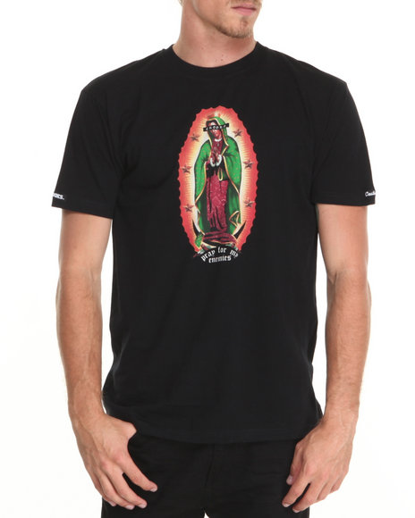 Crooks & Castles Black Our Lady Crooks T-Shirt