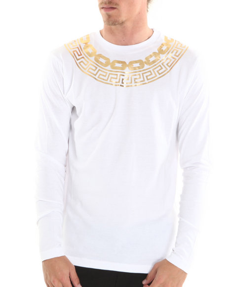 Crooks & Castles - Men White Greco Chain Gang T-Shirt