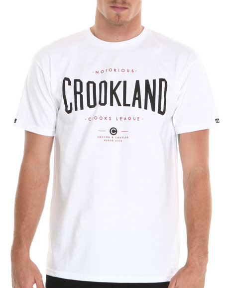 Crooks & Castles - Men White Crookland T-Shirt - $17.99