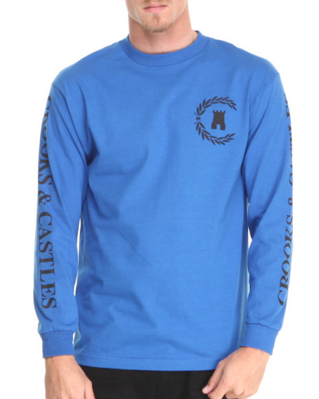 Crooks & Castles - Men Blue Victory L/S T-Shirt