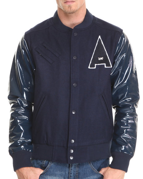 Well Established Navy Well Established Shine Jacket