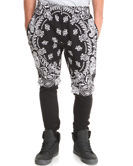Crooks & Castles Black Convertible Squad Life Warm-Up Sweatpant