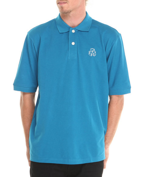 Akademiks - Men Blue Ralph Pique Polo Shirt