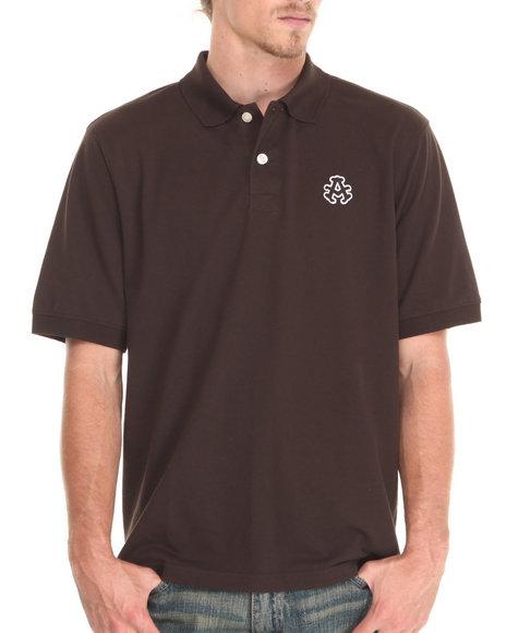 Akademiks - Men Brown Ralph Pique Polo Shirt - $21.99