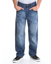 Men - Rolodex Sand Blasted Signature Denim Jeans