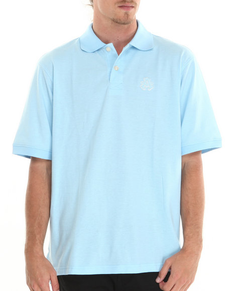 Akademiks - Men Light Blue Ralph Pique Polo Shirt