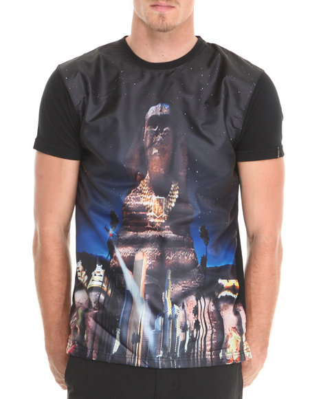Well Established - Men Black Sphinx Riddle Sublimation Tee