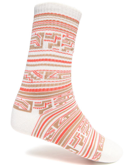 Lrg - Men Off White Tech Natural Int'l Crew Socks