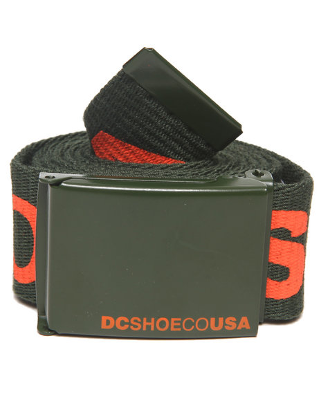 Dc Shoes Men Chinook 5 Belt Olive - $9.99