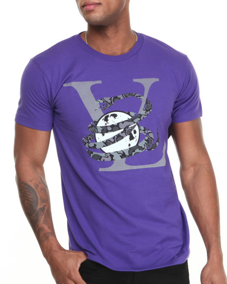 Purple Men V Neck
