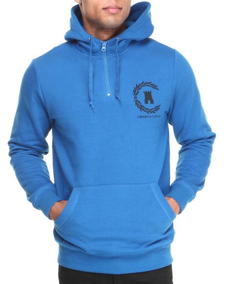 Crooks & Castles - Men Blue Victory Hooded Pullover