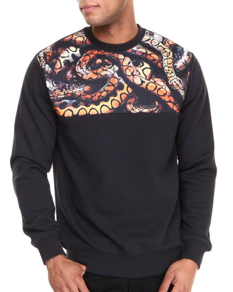 Crooks & Castles - Men Black Python Sweatshirt