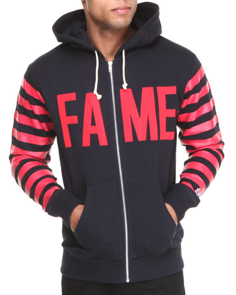Hall of Fame Navy Krueger Zip Up Hoodie