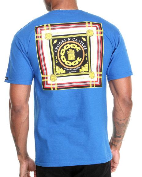 Crooks & Castles - Men Blue Lav Life Chain C T-Shirt