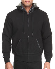 Akademiks - Iron Faux leather Zip Hoody