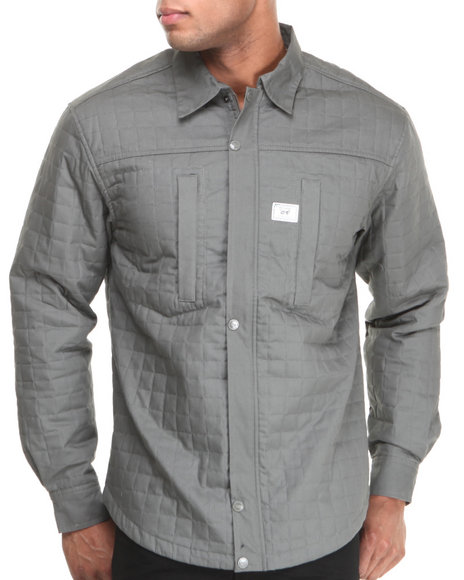 Well Established Grey Monument Wellness L/S Button Down Shirt