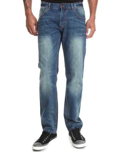 LRG - Men Medium Wash Core Collection True - Tapered Denim Jeans