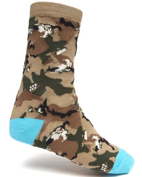 Lrg - Men Khaki Unnatural Palette Crew Socks