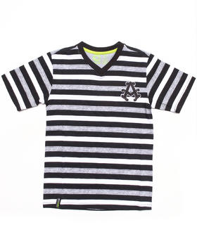Akademiks - STRIPED V-NECK TEE (8-20)