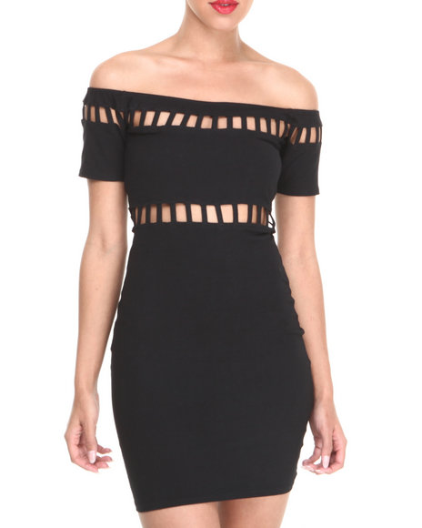 Motel - Women Black Dame Dress