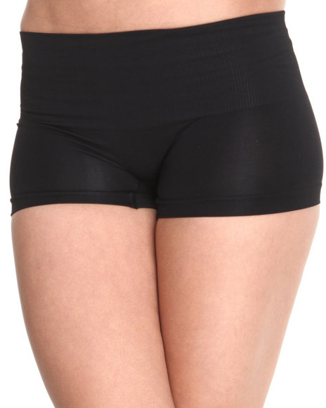 Drj Lingerie Shoppe - Women Black Seamless Tummy Support Short Shaper - $7.99