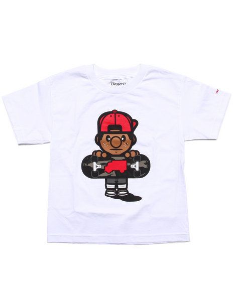 TRUKFIT Boys White Lil' Tommy Tee (8-20)
