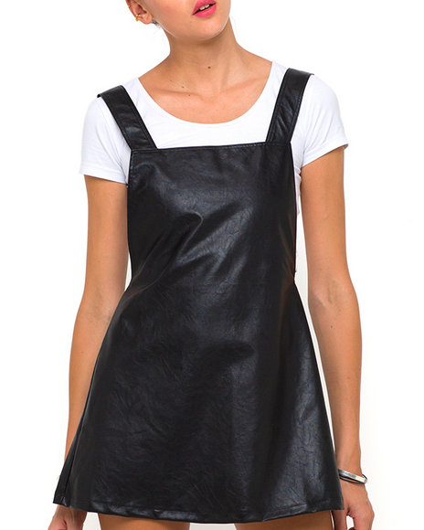 Motel - Women Black Macaw Pinafore