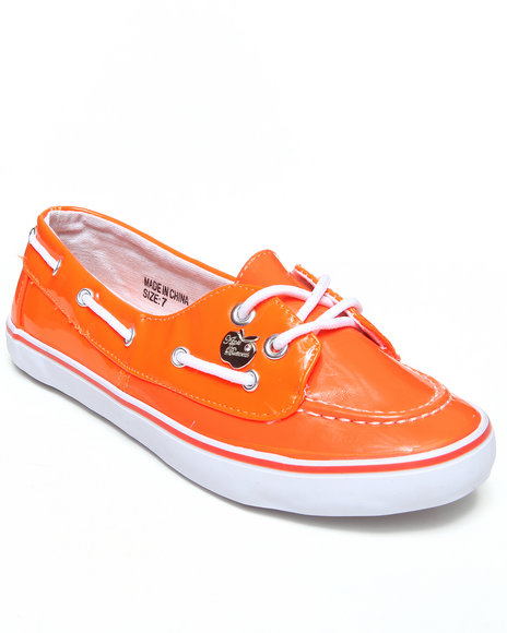 Apple Bottoms - Women Orange Leona Boat Sneaker - $10.99